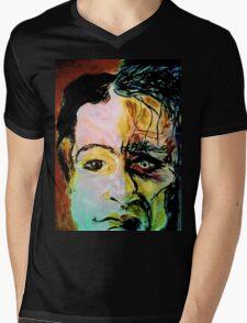 Schizo Mens V-Neck T-Shirt