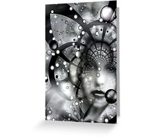 Face In The Galactic Web Of Chaos Greeting Card