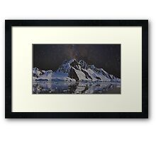 Distorted Mountains Framed Print
