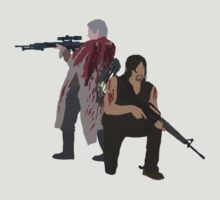 Carol Peletier and Daryl Dixon (Version 1) - The Walking Dead  by mashuma3130
