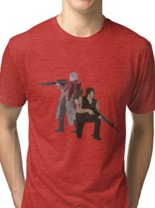 Carol Peletier and Daryl Dixon (Version 1) - The Walking Dead  Tri-blend T-Shirt