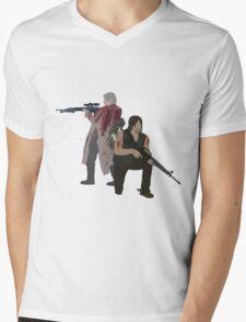 Carol Peletier and Daryl Dixon (Version 1) - The Walking Dead  Mens V-Neck T-Shirt
