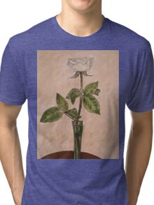 WHITE ROSE Tri-blend T-Shirt
