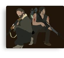 Daryl Dixon and Rick Grimes - The Walking Dead Canvas Print