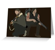Daryl Dixon and Rick Grimes - The Walking Dead Greeting Card