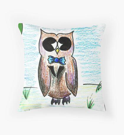 Dapper Owl Throw Pillow