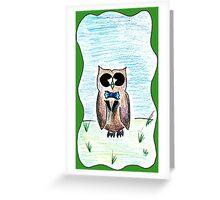 Dapper Owl Greeting Card