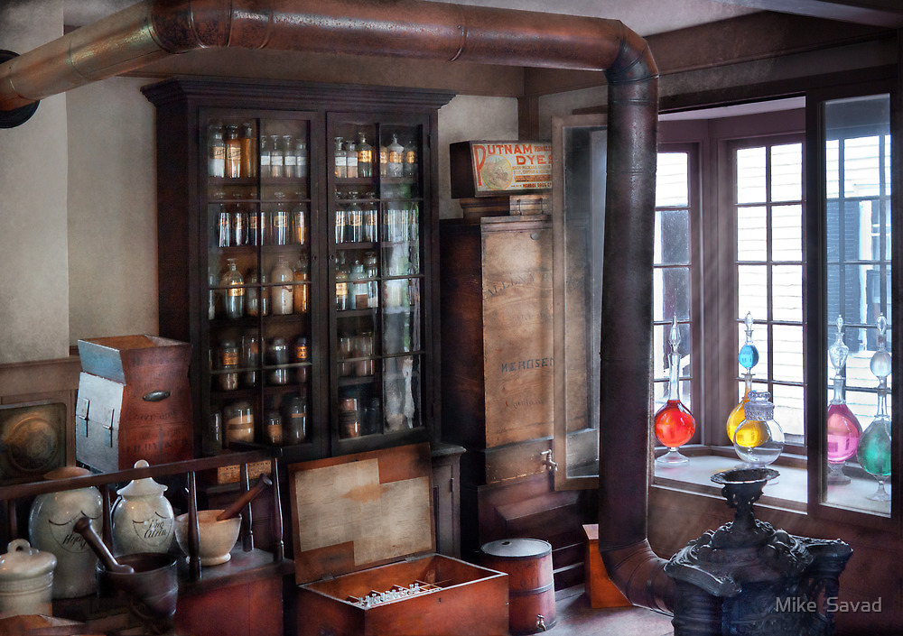 Pharmacist - Visiting the Apothecary  by Mike  Savad