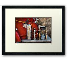 Fireman - An Assortment of Nozzles Framed Print