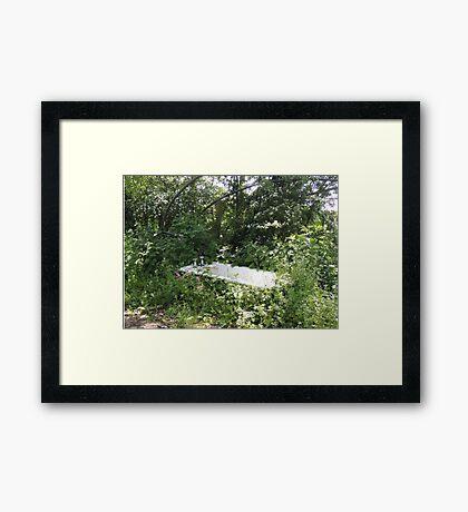 Outdoor Bathing Framed Print
