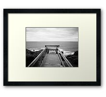 Cape Schanck: Footpath closed Framed Print