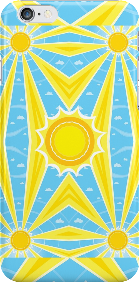 Kaleidoscope Sun 2 - iPhone case by KenRinkel