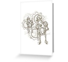 Funny Robots Greeting Card