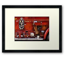 Fireman - Old Fashioned Controls Framed Print