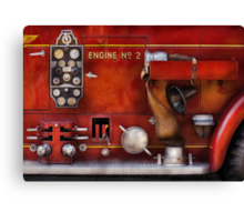 Fireman - Old Fashioned Controls Canvas Print