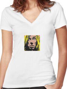 Iggy Pop Art Women's Fitted V-Neck T-Shirt