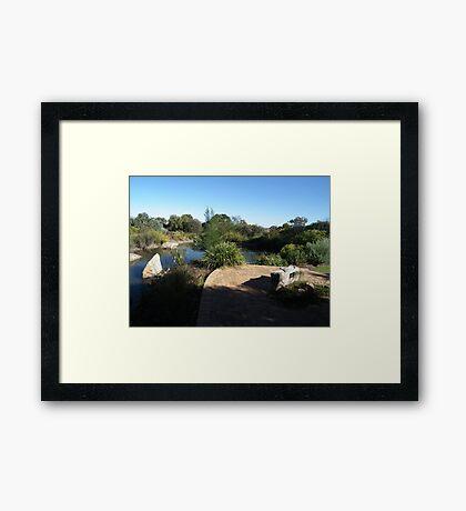 Botanical Gardens Water Feature Framed Print