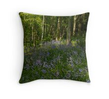 Patch of Bluebells Throw Pillow