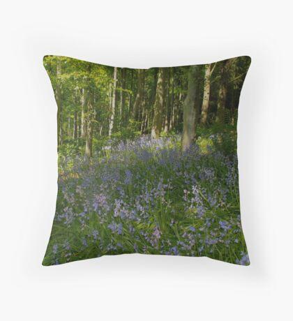 Patch of Bluebells Throw Pillow