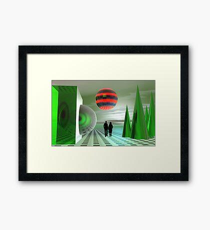 The green planet Framed Print