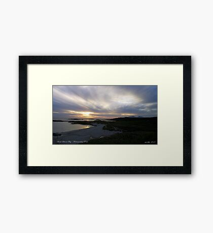 Sanna Bay   Ardnamurchan Point Framed Print
