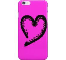 Black glitter heart iPhone Case/Skin