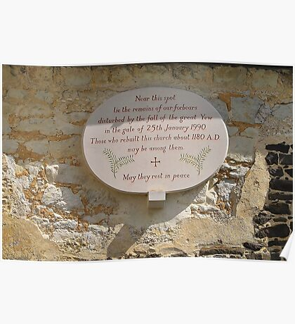 Church yard plaque Poster