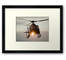 ABC Helicopter Framed Print