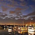 Twilight on Raby Bay Harbour by Beth  Wode