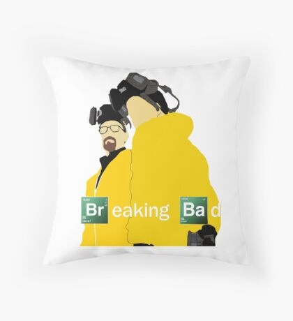 Jesse and Walt - Breaking Bad (with Logo) Throw Pillow
