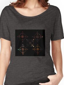 Skeleton Mandala- A beautiful pattern made from colourful skeletons Women's Relaxed Fit T-Shirt