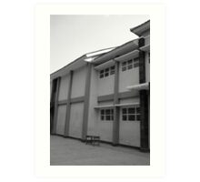 school building Art Print