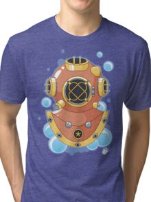 Vector Diving Helmet Tri-blend T-Shirt