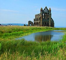 Whitby Abbey - Green and Blue by charlylou