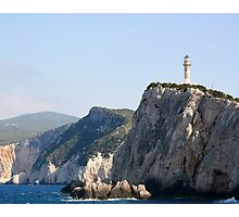 The lighthouse at Cape Lefkas, Greece Photographic Print