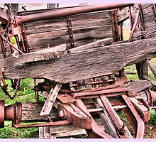 Old Wagon Closeup by wileyphotoart