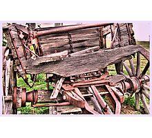 Old Wagon Closeup Photographic Print