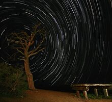 Bunyeroo Valley Lookout Startrail by Bill  Robinson