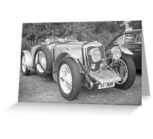 Riley Racing Car Greeting Card