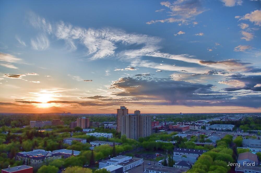 Capital City Sunset by Myron Watamaniuk