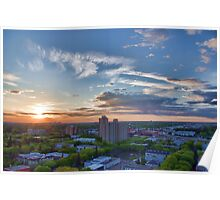 Capital City Sunset Poster