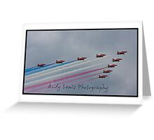 Red Arrows at cosford 2010 Greeting Card