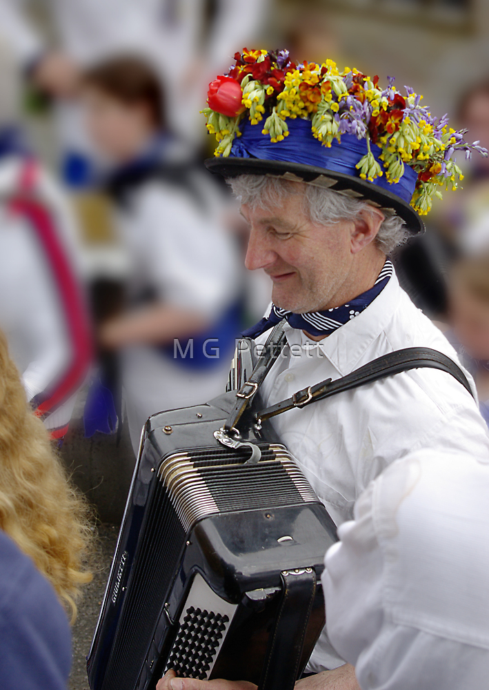 Obby Oss Accordion Player by M G  Pettett