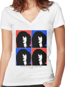 Patti Smith- American Artist Women's Fitted V-Neck T-Shirt