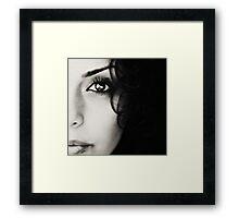 see. Framed Print