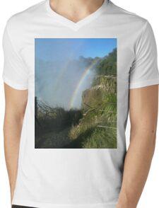 Rainbow Mens V-Neck T-Shirt