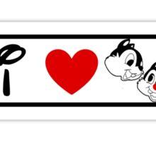I Heart Chip 'n' Dale (Classic Logo) Sticker