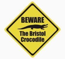 Bristol Crocodile Urban Myth Funny Warning Sign Baby Tee