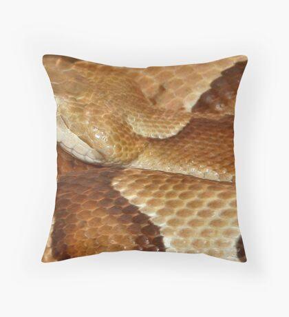 A Copperhead Throw Pillow