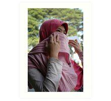moslem girl Art Print